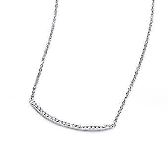 Cavendish Ranskan hopea ja kuutio Zirconia Smile kaulakoru