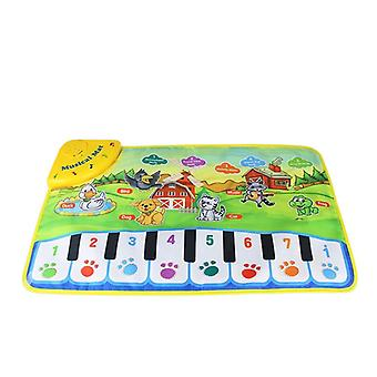 Funny Baby Piano Musical Play Mats Kids Learning Blanket Rug Musical Instrument
