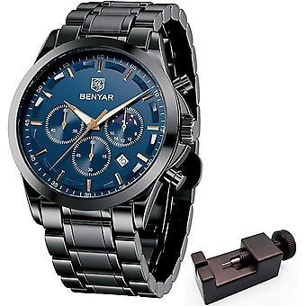 BENYAR Mens Watch Chronograph Analog Quartz 3ATM Waterproof Watches
