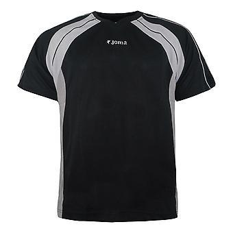 Joma Mens Training T-Shirt Casual Sportswear Black Top 442 40 405