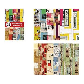 Scrapbooking de cartão Kraft de colagem colorida