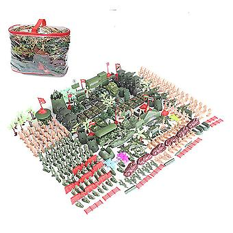 325pcs/set War Military sand table scene military base Plastic soldiers 5cm