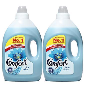 2 x 3 Liter Comfort Blue Skies Stoff Conditioner Wäschespüler 85 wäwasst frische Kleidung