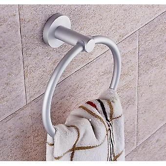 Přenosné věšáky na ručníky, kulaté hliníkové kroužky