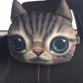 3d Impressão Cão Gato Cara Do Carro Pescoço e Cabeça Descanso Auto Segurança Almofada/ Suporte