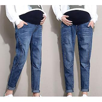 Pregnant Women Pants, Elastic Waist Belly Pant Cotton Jeans Trousers