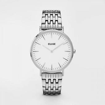 Cluse Unisex La Behème Silver Circle Quartz Fashion Watch CW0101201023