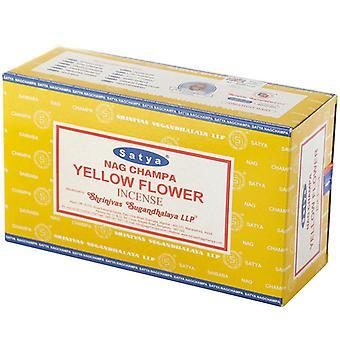 נאג צ'אמפה סאיטה צהוב קטורת מקלות x 12 חבילות