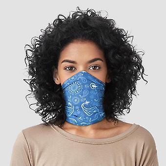 Revêtement bleu d'écharpe de cou à motifs