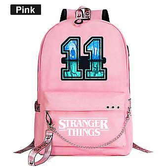Stranger Things Youth Schoolbag Leisure Ribbon Backpack