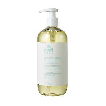 2 in 1 baby cleansing gel 500 ml of gel