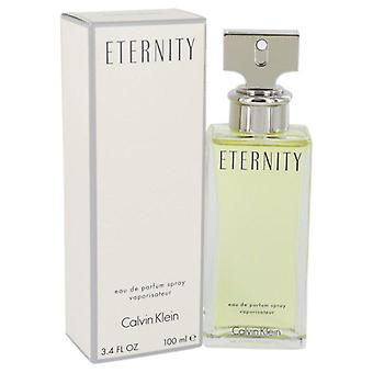 Eternity Eau De Parfum Spray par Calvin Klein 3.4 oz Eau De Parfum Spray
