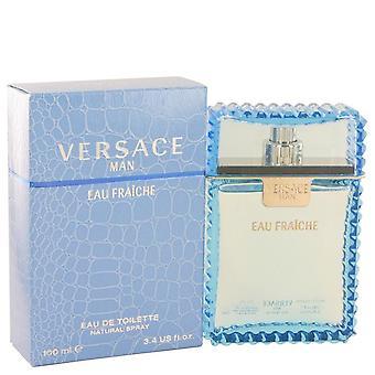 Versace Man Eau Fraiche Eau De Toilette Spray (blau) von Versace 3.4 oz Eau Fraiche Eau De Toilette Spray