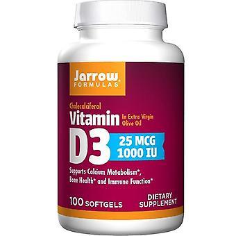 Jarrow Formulas Vitamin D3 1000 IU Softgels 100