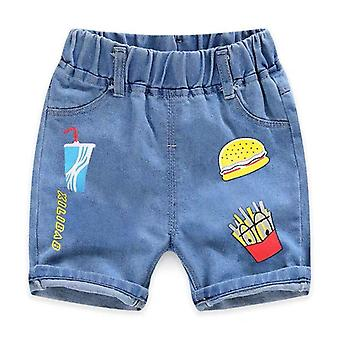 Bambini Estate Casual Hole Jeans Cute Cowboy Denim Pantaloni