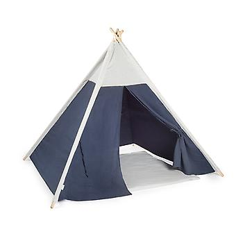 Authentic Teepee Play Tent Muslin Blue