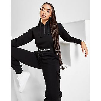 New Supply & Demand Women's Gothic Crop Hoodie from JD Outlet Black