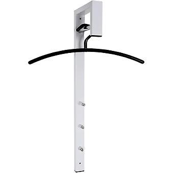 Wokex Mbel Wandgarderobe - Stahlrohr wei lackiert 3 Haken Hhe 70 cm