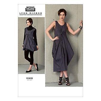 Vogue Coser Pattern 1410 se pierde el tamaño del vestido holgado tamaño 14-22 diseñador