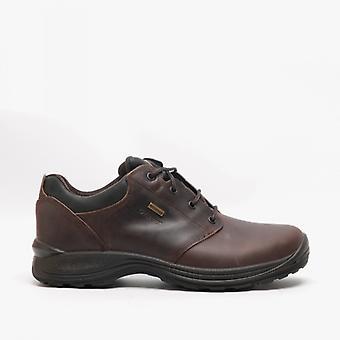 Grisport Exmoor Mens Leather Trekking Shoes Brown