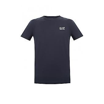 Emporio Armani EA7 Cotton Simple Navy T-shirt