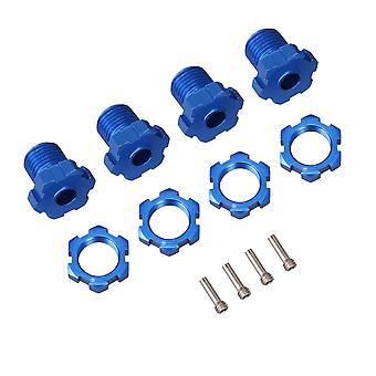 4x Wheel Hex Hub Adapter 17mm Replacement for TRAXXAS Blue RC1:10 Car