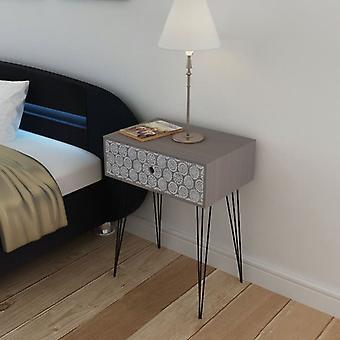 vidaXL bedside table with 1 drawer Rectangular Grey