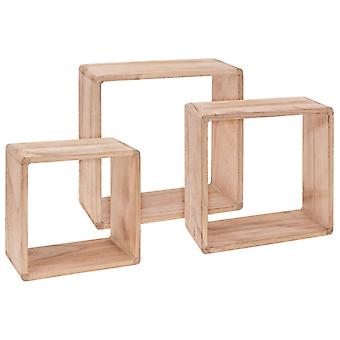 Home&Styling Hylde Cube 3 stk. Paulownia Wood