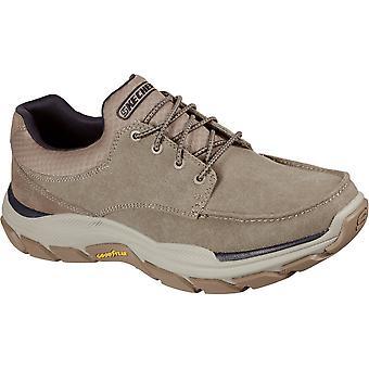 Skechers الرجال احترام Loleto تنفس الدانتيل حتى الأحذية