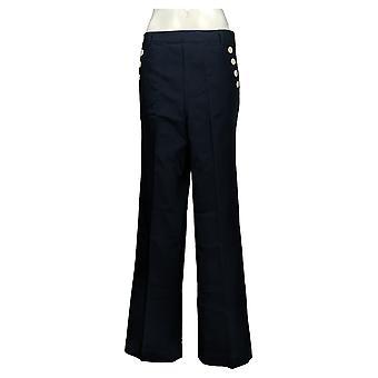 ليزا رينا جمع المرأة & apos السراويل عالية الخصر واسعة الساق الأزرق A308837