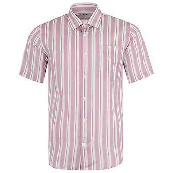 NN07 Errico Lyocell Blend Short Sleeve Shirt - Lotus Stripe