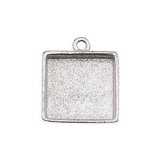 Nunn design kirkas hopea päällystetty Pewter kollaasi kehys neliö 1/2 tuumaa