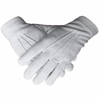 Regalia masónica 100% algodón guantes blancos lisos