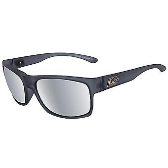 Dirty Dog Furnace Sunglasses - Satin Xtal Black / Grey / Silver Mirror Polarised