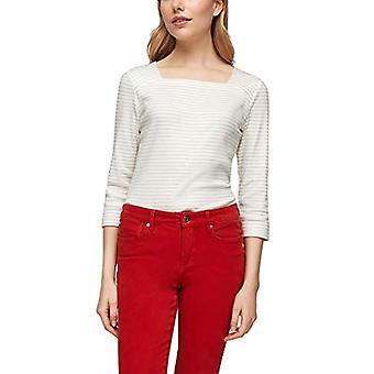 s.Oliver 120.10.010.12.130.2053784 T-Shirt, White Stripes, 44 Woman