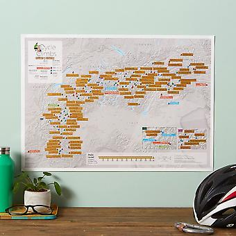 Scratch Off Alpine Cycling Print (Silk Art Paper)