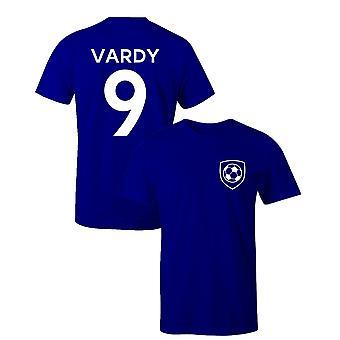 Jamie Vardy 9 klub stil spiller fodbold t-shirt
