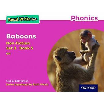 Les Write Inc. Phonics Pink Set 3 Nonfiction 5 Baboons av Gill Munton