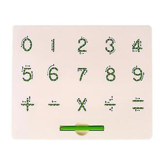 Nummer nummer alfabet plastic stalen bal magnetische tekentafel kinderspeeltje az6410