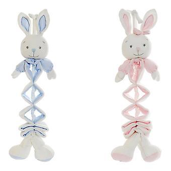 Fluffy toy DKD Home Decor Pink Celeste (19 x 8 x 27 cm) (2 pcs)