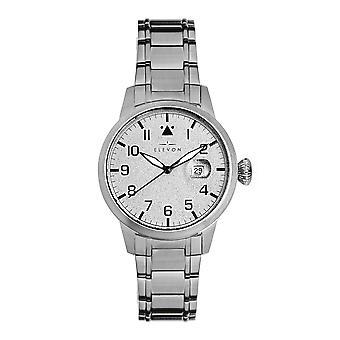Elevon Stealth Bracelet Watch w/Date - Silver