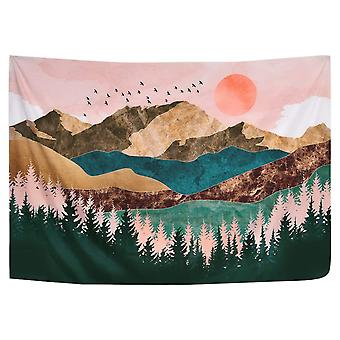 Góry Gobelin Drzewa Leśne Gobelin Sunset Tapestry Natural Landscape Tapestry Wall Hanging