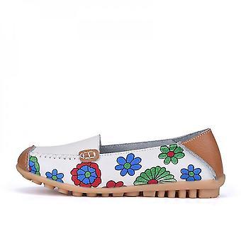 Girl's Flower Print  Flat Shoes