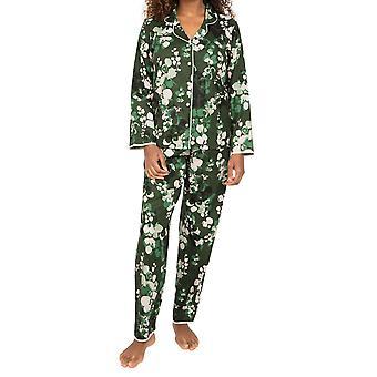 Cyberjammies Nora Rose Marilyn 1559 Dámské zelené listy Bavlněná pyžamová sada