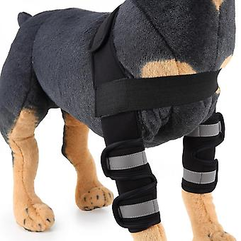 Evago With Reflective Stripe-dog Front Leg Braces Carpal Support With Safety Reflective Straps For Front Hock Joint, Cruciate Ligament, Wound Healing