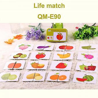 Baby Educational Toys New Head Learning Educational Fruit Cognitive Map A Pair Of Learning Toys