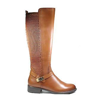 Tamaris 25511 311 Brown Leather/Textile Womens Long Leg Boots