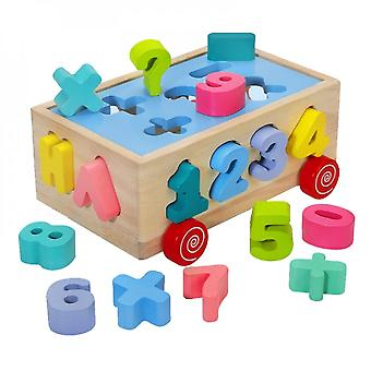 Matching Toy Sorting Block Shape Color Number Developmental Geometry Early Learning Montessori Toy For Preschools Babies