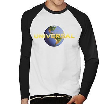 Universal Pictures Klassisk Modern Logo Mäns Baseball Långärmad T-Shirt