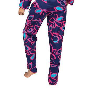 Cyberjammies Charlotte 4966 Pantalon Pyjama En Coton Floral Bleu Marine Femme